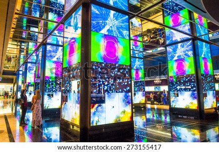 LAS VEGAS - MARCH 26 : The Interior of Cosmopolitan hotel and casino on March 26 2015 in Las Vegas. The Cosmopolitan opened in 2010 and it has 2,995 rooms and 75,000 sq ft casino.