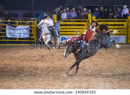 Las Vegas May 17 Cowboy Participant In A Bucking Horse