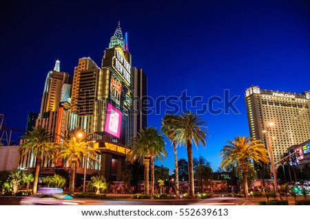 Las Vegas, Nevada, USA - June 27, 2014: The famous Hotel New York in Las Vegas