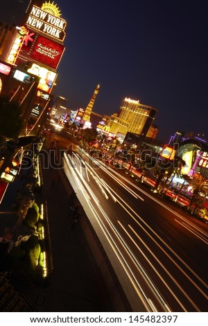 Las Vegas strip USA night shot