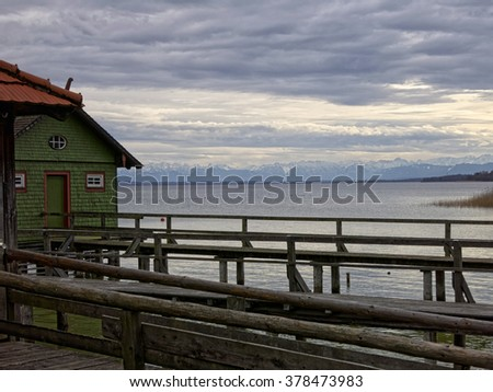 "Late afternoon at the lake ""Ammersee"" in southern Bavaria, germany"