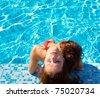 Laughing Pool Joy - stock photo