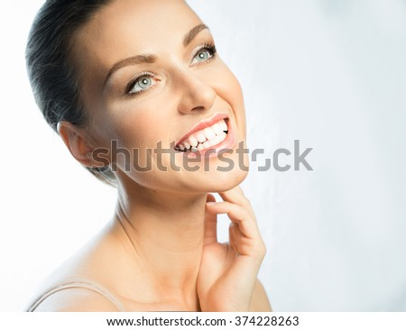 laughter, joy, positive, on the face of the girl with beautiful teeth