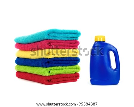 Laundry items isolated against a white background