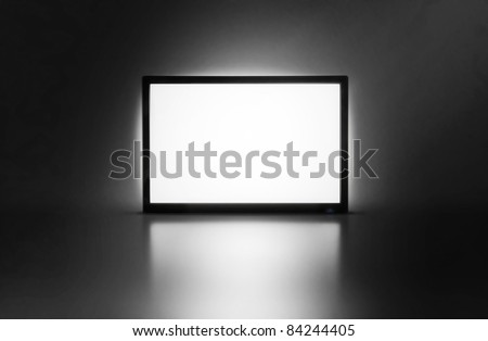 LCD monitor presentation screen