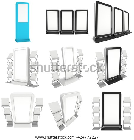 Set typical objects modular kitchens flat stock vector for Trade show floor plan design