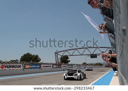 LE CASTELLET, FRANCE, July 12, 2015 : 24H Series endurance event takes place on Circuit Paul Ricard. All over the world, the serie is aimed at amateurs and gentlemen drivers and professional drivers.