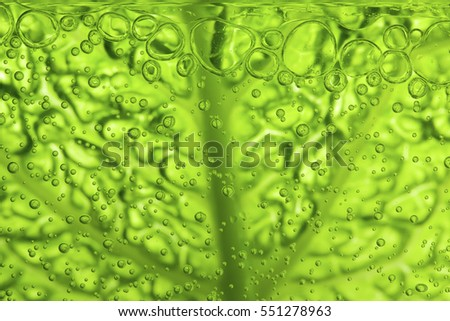 Leaf texture with water bubbles