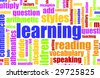 Learning is Fun Vocabulary Elementary School Art - stock photo
