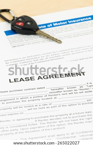 Lease Agreement Glasses Document Information Mockup Stock Photo