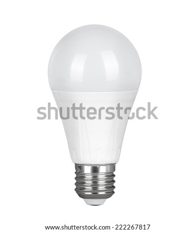 LED Light bulb, isolated, Realistic photo image