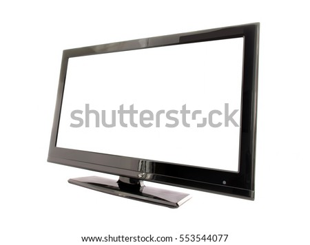 LED screen with empty background isolated on white