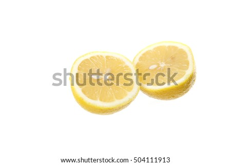 Lemon isolated in white background