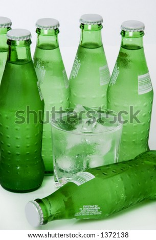 Lemon Lime Ice Cold Soda Pop Drink - stock photo