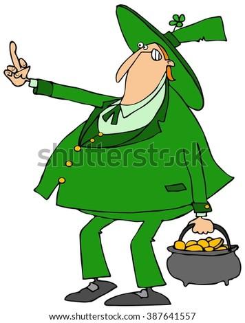 Scared Leprechaun Running Stock Illustration 381214855 - Shutterstock