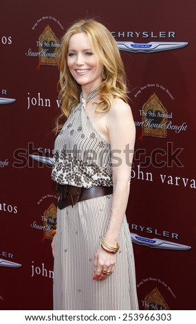 Leslie Mann at the John Varvatos 9th Annual Stuart House Benefit Presented By Chrysler And Hasbro held at the John Varvatos Boutique, California, United States on March 11, 2012.