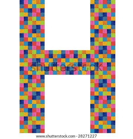 h alphabet designs  Tile letter h Stock Photos,