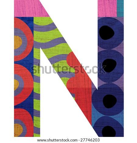 N Alphabet Design letter N alphabet symbol design - stock photo
