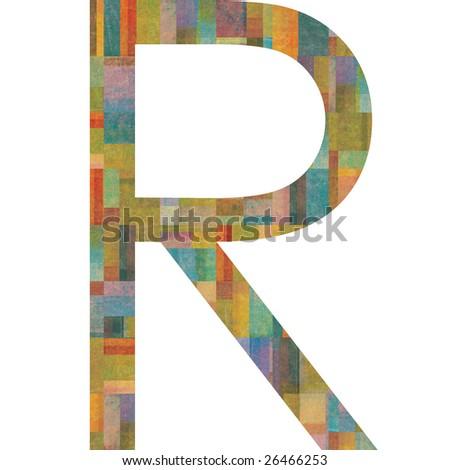 r alphabet design  Tile letter r Stock