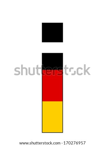 Letter series with flag inside - Germany