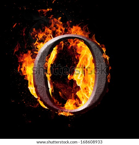 Fiery Letter O Font Stock Photos, Fiery Letter O Font ...