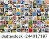 Life collage - stock photo