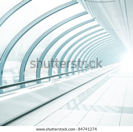 light blue transparent hallway
