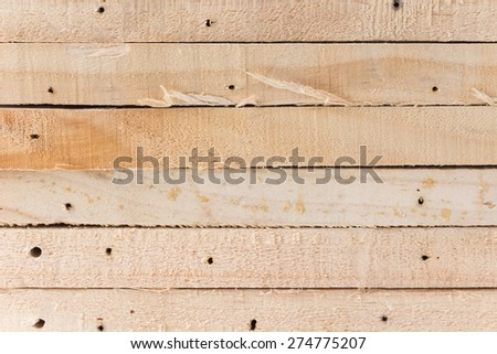 light brown wood on white background