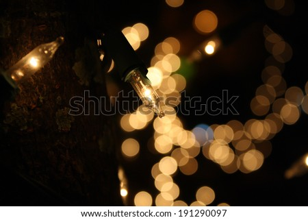 light bulb with a bokeh background design