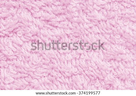 Light pink cotton towel texture pattern