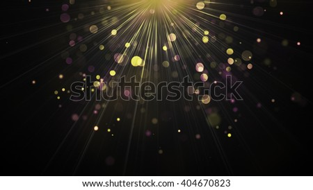 Light rays and particles. Computer generated abstract background