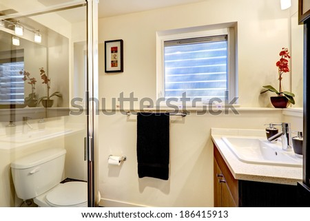 New beautiful bathroom small cute old stock photo 74625484 shutterstock for Bathroom remodeling tacoma wa