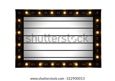 Lightbox signage with light bulb decorate for text information