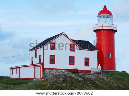 Lighthouse in Ferryland, Newfoundland