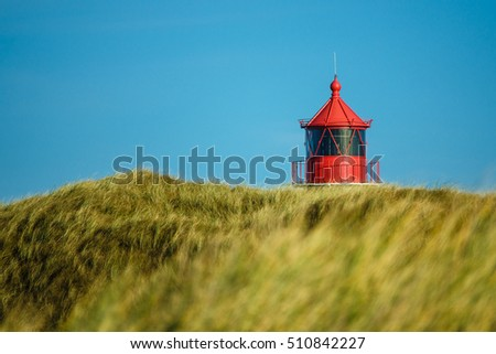 Lighthouse in Norddorf on the island Amrum, Germany.