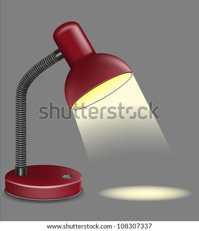 lighting table lamp illustration on grey background