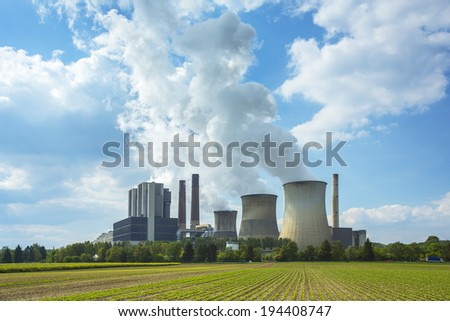 lignite-fired power plant weisweiler in spring