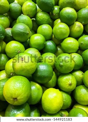 Yellow Citrus Fruit  Letters