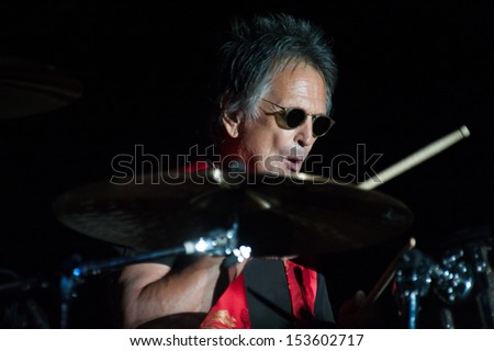 LINCOLN, CA - September 5: Denny Carmassi performs in support of Sammy Hagar's 'Forty Decades of Rock' tour at Thunder Valley Casino Resort in Lincoln, California on September 5, 2013