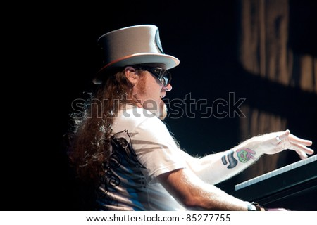 LINCOLN, CA - September 22nd: Peter Pisarczyk with Lynyrd Skynyrd performs at Thunder Valley Casino and Resort in Lincoln, California on September 22nd, 2011