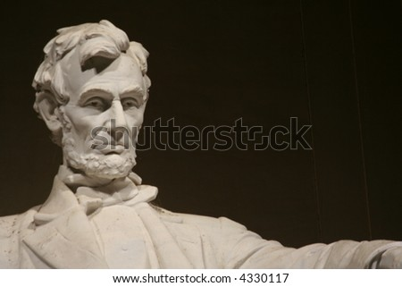 lincoln memorial statue with copyspace