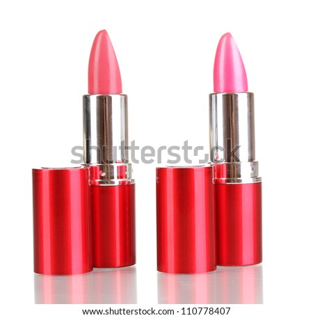 lipsticks isolated on white