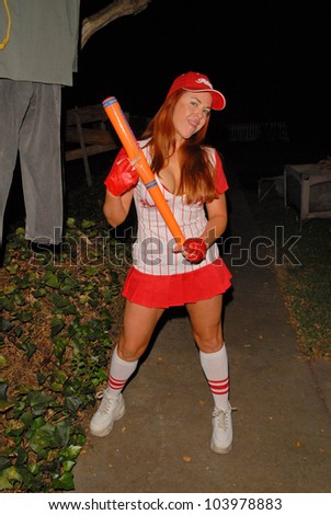 Lisa Cash preparing for the annual Halloween Bash at the Playboy Mansion, Private Location, Los Angeles, CA. 10-24-09