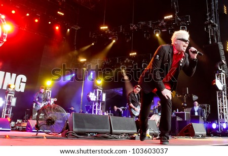 LISBON, PORTUGAL - MAY 26: The Offspring performing on stage in day 2 of Rock in Rio Lisboa May 26, 2012 in Lisbon, Portugal