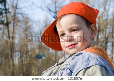 Little boy in a cap