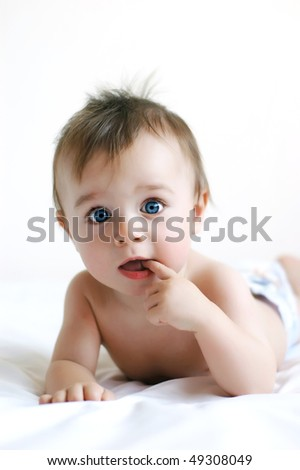 Little boy with blue eyes