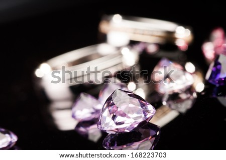 little diamonds and wedding rings