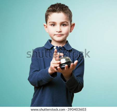 little kid pressing a button