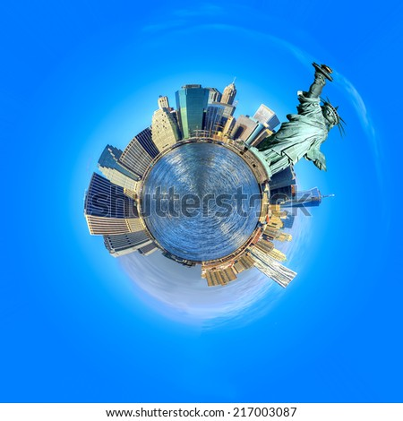 Little planet of New York City