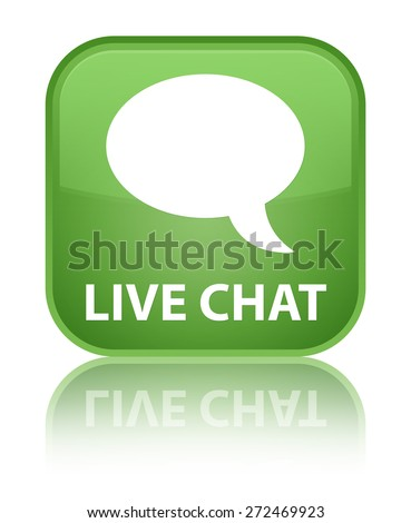 Live chat soft green square button